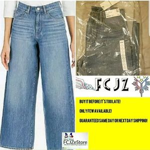 UNIQLO WOMEN'S HIGH-RISE WIDE FIT JEANS SIZE 26 🆕